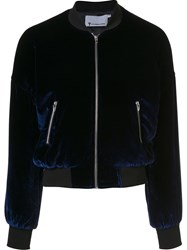 Alexander Wang T By Classic Bomber Jacket Blue