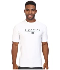 Billabong Tri Unity Short Sleeve Rashguard White Men's Swimwear