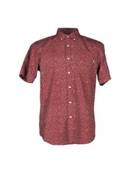 Obey Shirts Shirts Men Maroon