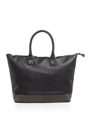Pieces Small Studded Tote Bag Black