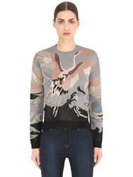 Valentino Bird Jacquard Knit Sweater