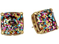 Kate Spade Small Square Studs Multi Glitter Earring