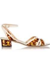 Charlotte Olympia Duke Leather And Printed Pvc Sandals Animal Print