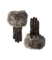 Ugg Three Point Long Toscana Trim Leather Smart Gloves Black Multi Extreme Cold Weather Gloves