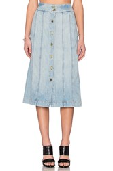 Frame Denim Le Panel Skirt Belfast