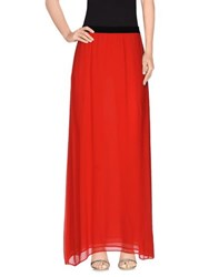 Enza Costa Skirts Long Skirts Women Red