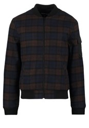 Your Turn Bomber Jacket Blue Mix Brown