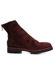 Guidi 'Reverse' Boots Red
