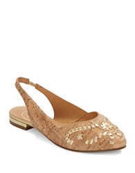 Jack Rogers Rory Sling Back Flats Natural