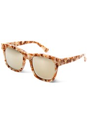Gentle Monster Kaiser Mirrored Wayfarer Style Sunglasses Beige