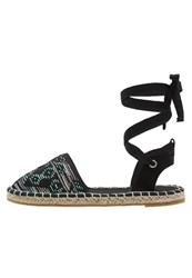 Evenandodd Espadrilles Green Black