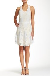 Madison Marcus Strappy Back Lace Dress White