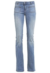 Liu Jo Jeans Lucky Bootcut Jeans Gritty Wash Bleached Denim