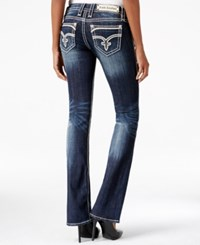 Rock Revival Dee Bootcut Dark Blue Wash Jeans Only At Macy's Medium Blue