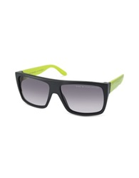 Marc By Marc Jacobs Large Square Acetatae Frame Sunglasses Black Shaded Grey