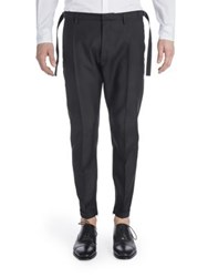 Dsquared Virgin Wool And Silk Biker Pants Black