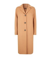 Max Mara Maxmara Weekend Double Face Wool Blend Boyfriend Coat Female