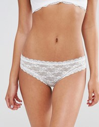 Monki Lace Brief Almost White