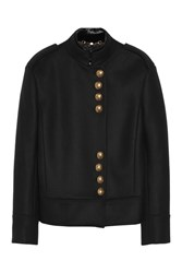 Gucci Wool Military Style Jacket Black