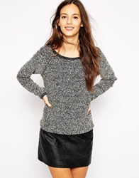 Esprit Textured Knit Jumper Grey