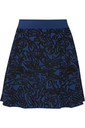 Opening Ceremony Intarsia Stretch Knit Mini Skirt Blue