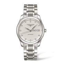 Longines Master Collection Day Date Watch Unisex Silver