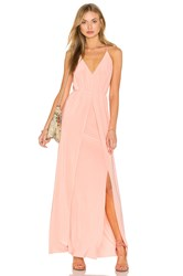 Misa Los Angeles Nola Double Slit Maxi Dress Pink