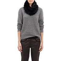 Barneys New York Women's Fur Cowl Scarf Blue
