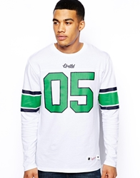 Undefeated Blitz Long Sleeve Football Top White