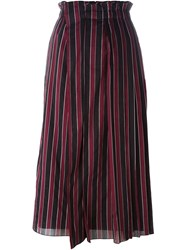 N 21 N.21 Striped Midi Skirt Black