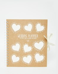 Paperchase Kraft Wedding Planner Multi