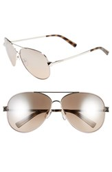 Women's Valentino 'Rockstud' 61Mm Aviator Sunglasses Rose