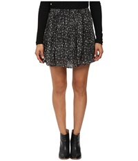 Lucky Brand Printed Mini Skirt Black Multi Women's Skirt