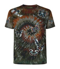Valentino Tie Dye Butterfly T Shirt Male Green