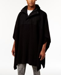 Guess Men's Canvas Yoke Poncho Jet Black Multi