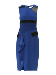 Prabal Gurung Contrast Panel Silk Crepe Dress