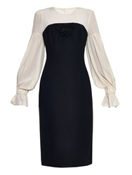 Giles Silk Crepe And Wool Blend Long Sleeved Dress