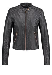 Y.A.S Yas Yassarah Leather Jacket Black