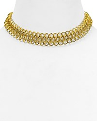 Kenneth Jay Lane Chain Link Choker Necklace 12 Gold