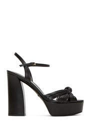 Gucci Knotted Strand Platform Sandals Black
