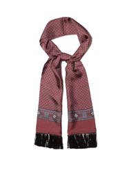 Dolce And Gabbana Square Print Silk Scarf Burgundy