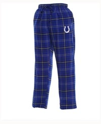 Concepts Sport Men's Indianapolis Colts Ultimate Flannel Sleep Pants Blue