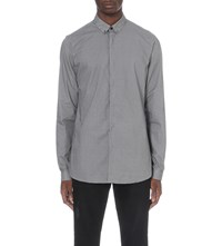 The Kooples Geometric Fitted Shirt White Black