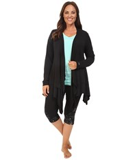 Marika Plus Size Abbey Cardigan Black Women's Sweater