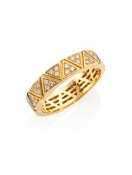 Marina B Triangoli Diamond Pave And 18K Yellow Gold Ring