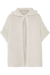 Brunello Cucinelli Chunky Knit Cashmere And Silk Blend Hooded Cardigan