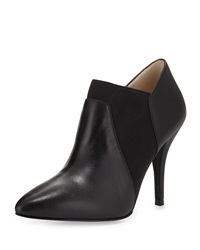 Neiman Marcus Elaine Leather Pointed Toe Bootie Black