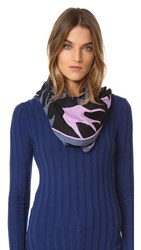 Mcq By Alexander Mcqueen Swallow Swarm Scarf Carbon Blue