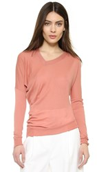 Joseph V Neck Long Sleeve Rose