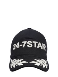 Dsquared Icon Embroidered Canvas Baseball Hat